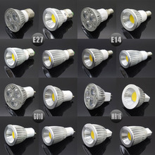 E27 E14 GU10 MR16 LED COB Spotlight Dimmable 6w 9w 12w 15w Spot Light Bulb high power lamp AC DC 12V or 85-265V(China (Mainland))