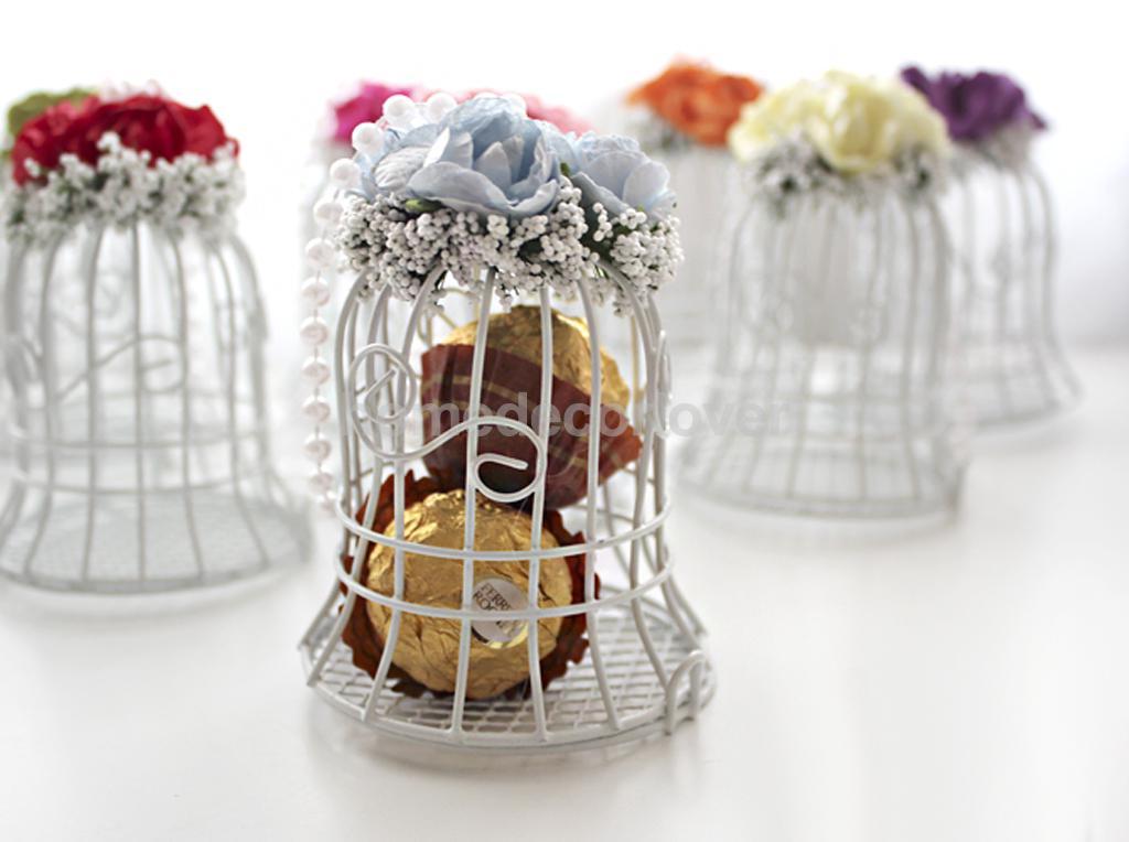 Gaiola de pássaro caixa de doces de casamento eventos artigos para festas de noiva presente do chuveiro de bebê(China (Mainland))