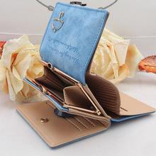 TONY SHOP Good Quality 2015 New Fashion Women Wallet Leather Button Clutch Short Purse Bag 10