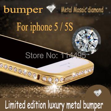 Luxury Bling Apple iPhone 6 5 5s 4s 4 funda Crystal Diamond Metal Case i6 capa Bumper Rhinestone Frame - creagua store
