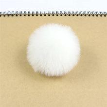 3 pcs 8 centímetros Bolas de Pompom Fofo Faux Pele De Coelho Pompons para Chaveiros DIY Jewelry Making Achados Acessórios Atacado 20 cores(China)