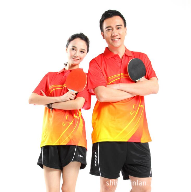 Table Tennis Jersey Short Tennis Set Couple Clothes Set Men Women Shirt and Shorts Plus Size Free Shipping(China (Mainland))