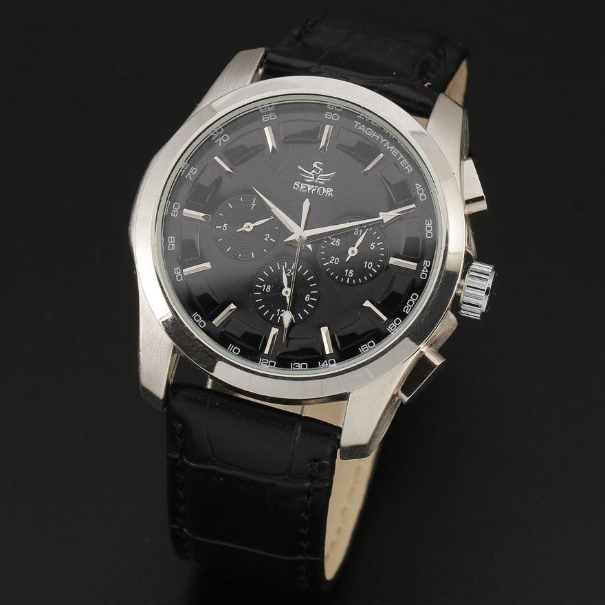 2016 hot sale fashion automatic date calendar multi function leather band men gift automatic mechanical wrist watch 8275(China (Mainland))