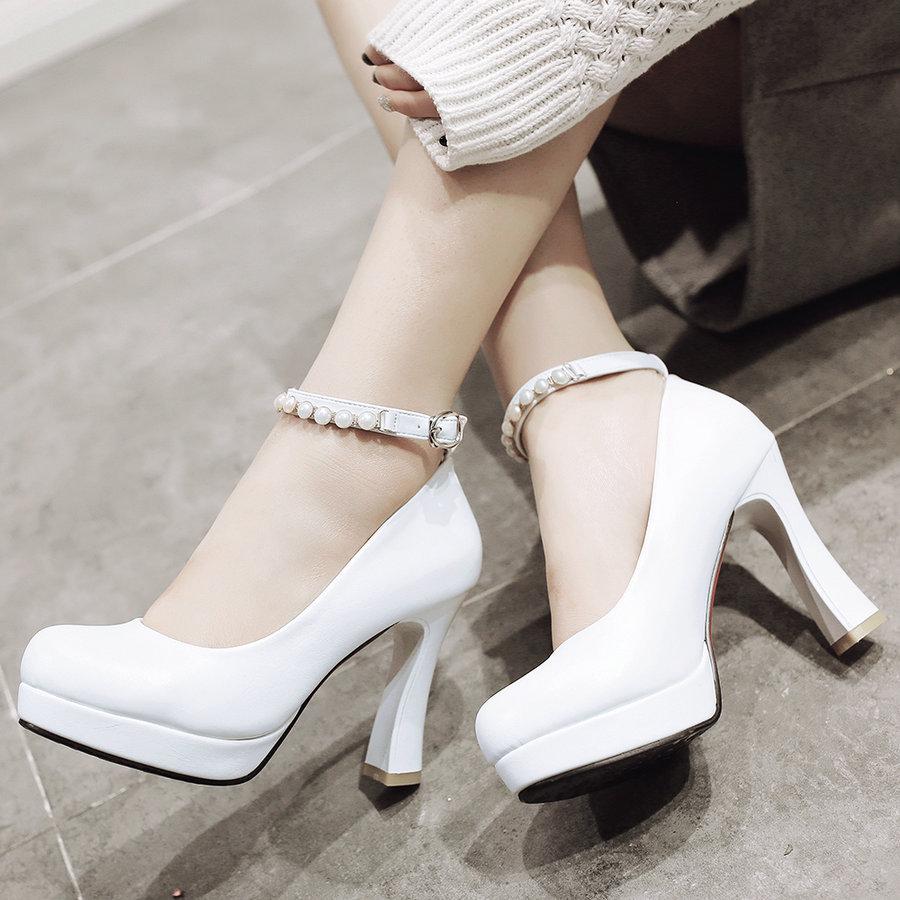Cheap White Platform Heels