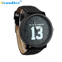 Buy Fashion Lovers Men Women PU Leather Band Quartz Analog Wrist Watch Creative for $1.70 in AliExpress store
