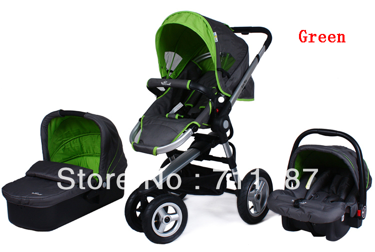 Domestic 3 In 1 Baby Pram For Children,High Landscape Aluminum Stroller High Quality Baby Buggy With Child Car Seat&amp;Carrycot<br><br>Aliexpress