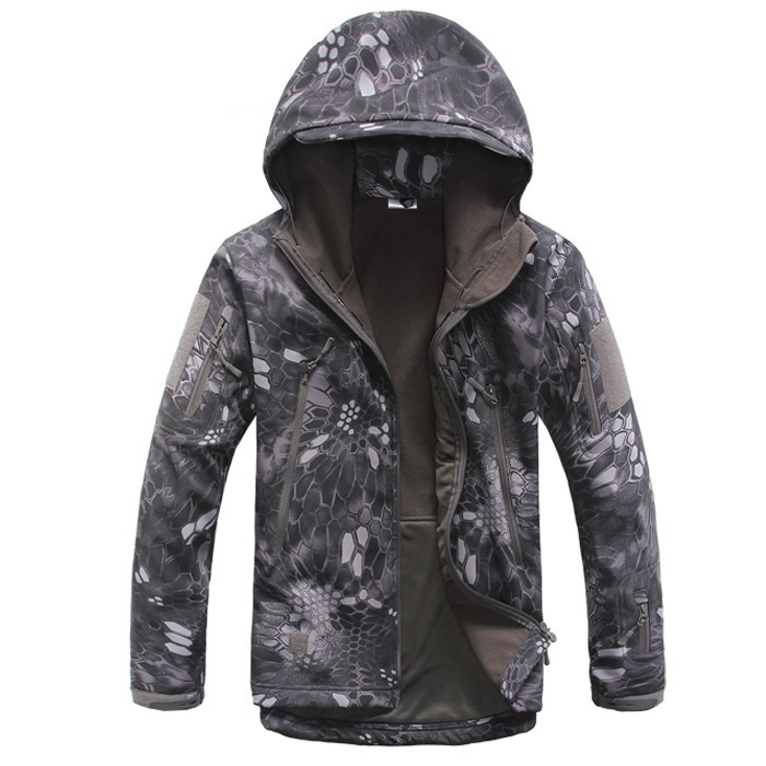 Gear Tactical Softshell Camouflage Outdoors Fleece Jackets and Pants Men Army Sports Waterproof Hunting Clothes Military Coats