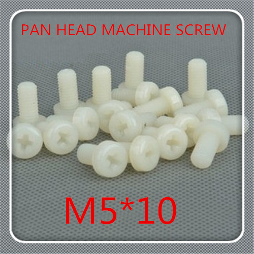 500pcs/lot High Quality M5*10 Nylon Plastic Phillips Cross Recessed Round Pan Head Machine Screw<br><br>Aliexpress
