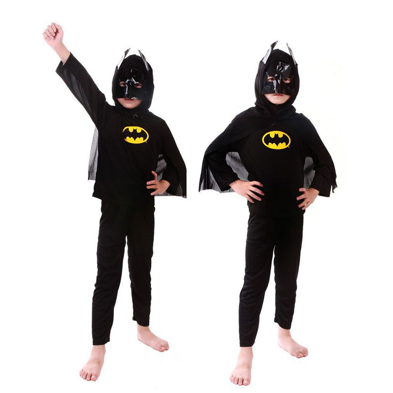 Spiderman superman batman children party cosplay costume Halloween Clothes For Kids
