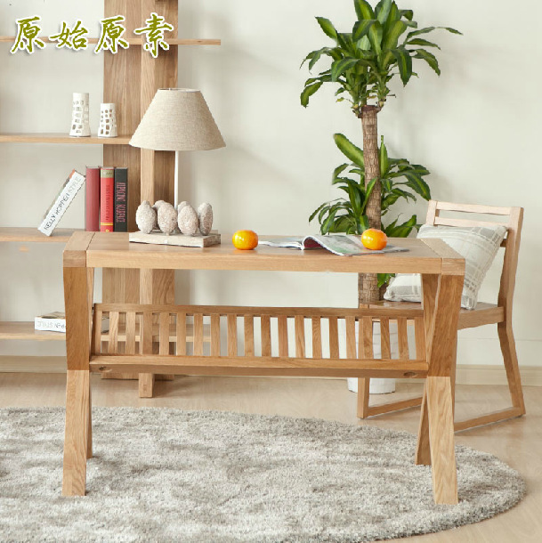 White Study Table : White-oak-furniture-solid-wood-study-table-office-table-computer-desk ...