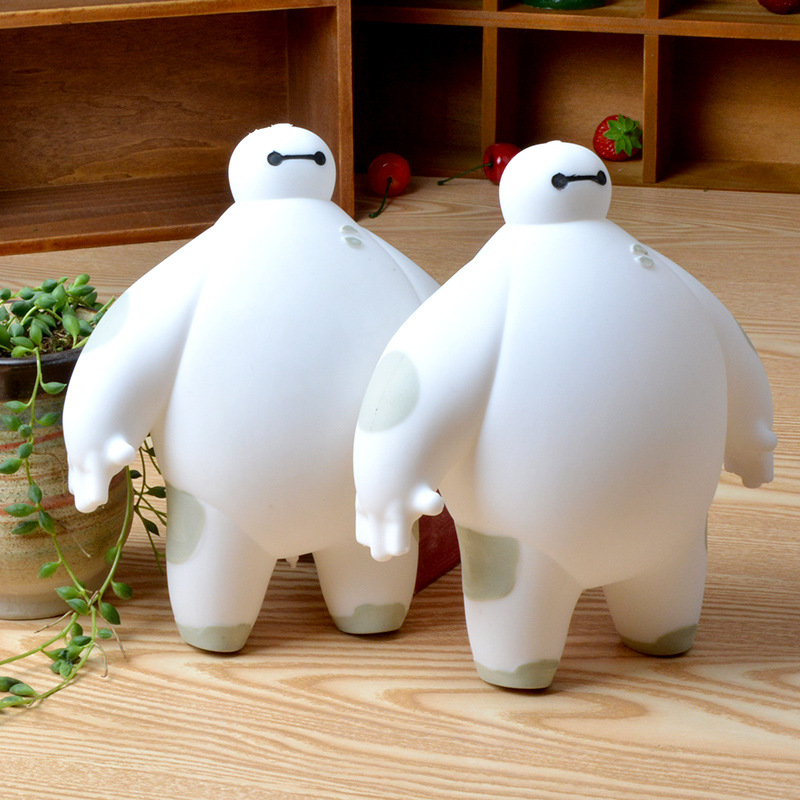 Dragon Ball Minions Minecraft Toys Flashing Big Hero 6 Toy Action Figure Baymax Elastic Silicon Doll For Children Free Shipping(China (Mainland))