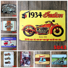 Vintage Metal Sign Tin Motorcycle Poster Home Bar Pub Garage Decoration 20*30CM 17 Styles(China (Mainland))