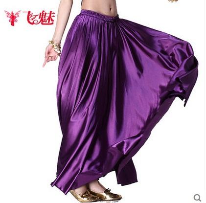 Sale belly dance dress big swing skirt black gypsy skirt flamenco costume belly dancing indian silk skirt(China (Mainland))