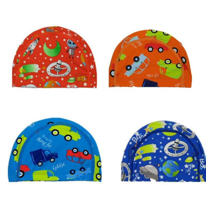 Kids Cartoon Swimming Cap Digital Printed Swim Caps Flexibility Durable Summer Hat Hot Sale(China (Mainland))