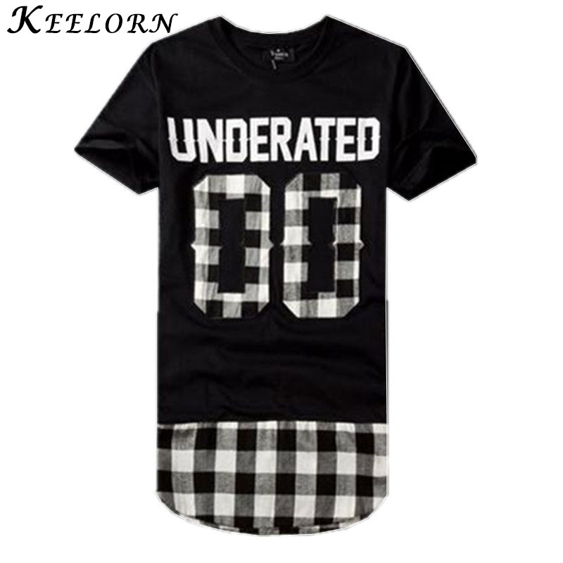 Keelorn 2016 Men T-shirt Bandana Men's Extended Tee Shirts Men Skateboard Element t-shirt Hip Hop tshirt Streetwear Clothing(China (Mainland))