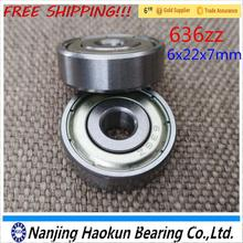Buy 20PCS Thick ball bearing 6mm *22mm*7mm 636ZZ deep groove zz bearing for $10.34 in AliExpress store