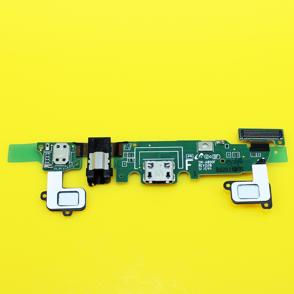 1pcs Sensor Keypad Home Replacement Charger Charging Dock Port + Audio Jack Flex Cable For samsung galaxy A8 A8000(China (Mainland))