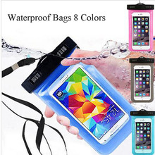 100% Sealed Waterproof Bag Cover Pouch Phone Case For Microsoft Nokia lumia 610 620 625 630 640 XL 710 720 730 Most Phone Pocket