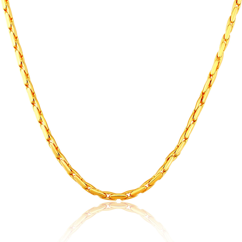 Stainless Steel 18K Gold Plated Men Jewelry Gift Items New High Quality NEVER FADE 5MM Wide Link Chain Necklaces N50126(China (Mainland))