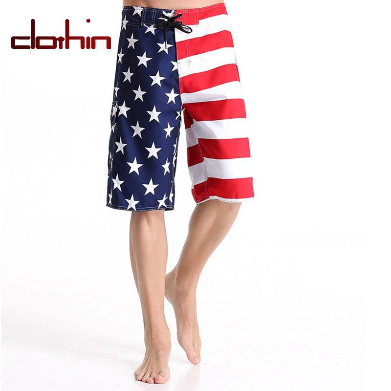 Clothin Outdoor Fashion Popular Sports Swimwear Beach Surf American Flag Doodle Print Board Shorts Men XXXL XXXXL CB16103(China (Mainland))