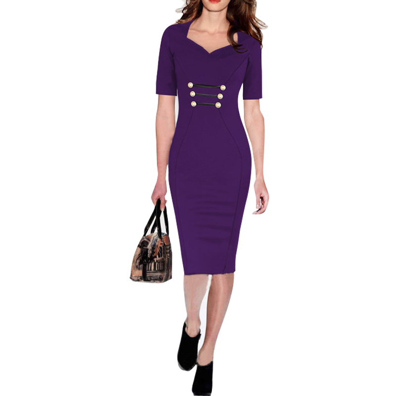 Casual Office Formal Party Pencil Sheath Dresses Fashion ...