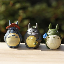 3pcs Japanese Anime My Neighbor Totoro Smiling Tototro Laughing Totoro Action Figures Cute kid Gift