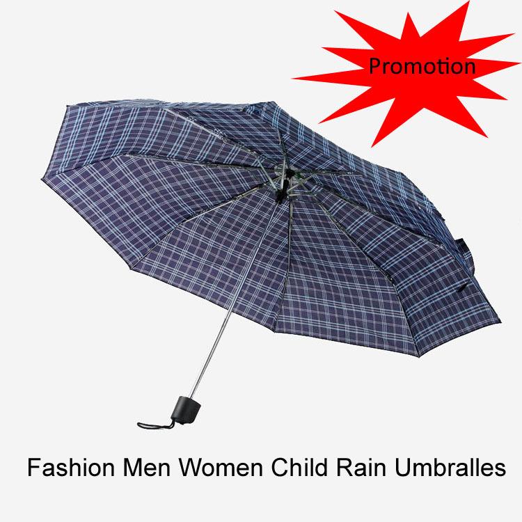 Promotion Fashion Cheap Folding Umbrella Automatic Three Folding Rain Umbrellas Women Men Random Delivery(China (Mainland))