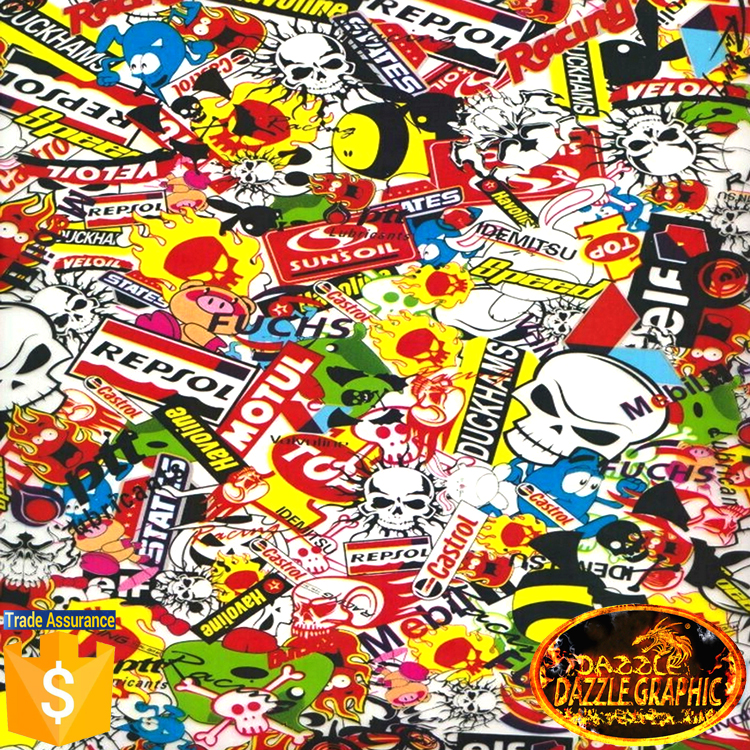 Special Offer Dazzle Graphic Water Transfer Printing Film Sticker Bomb No.DGDB8016 Hydro Dipping Hydrographics Printing Film(China (Mainland))