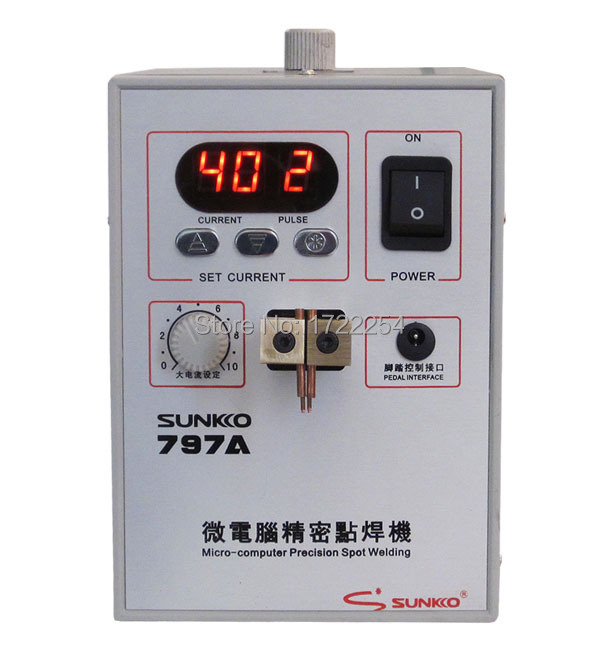 FREE SHIPPING SUNKKO 797A Mobile Phone Notebook Battery Micro Pulse Spot Welder Welding Equipment Machine(China (Mainland))
