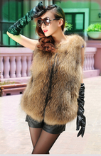 new premium raccoon fur short tank top women's down coat fashion fur clothing WWS - 62(China (Mainland))