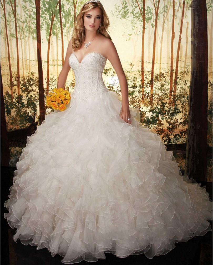 stapless princess cut pleated satin wedding gown with floral decor hswdh princess style wedding dress