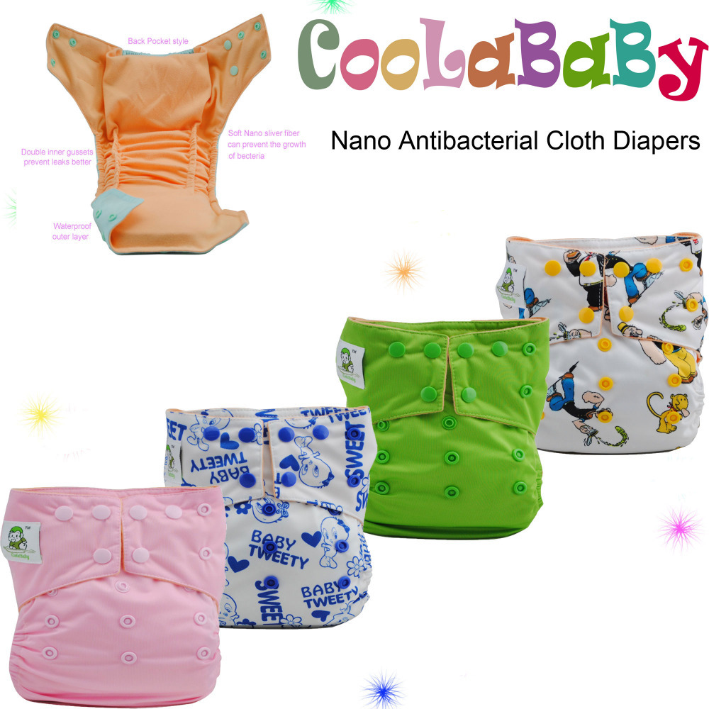 Reusable Baby Cloth Diapers Nappies 8 Coolababy Washable Nano Sliver Diaper Nappy sliver insert - store