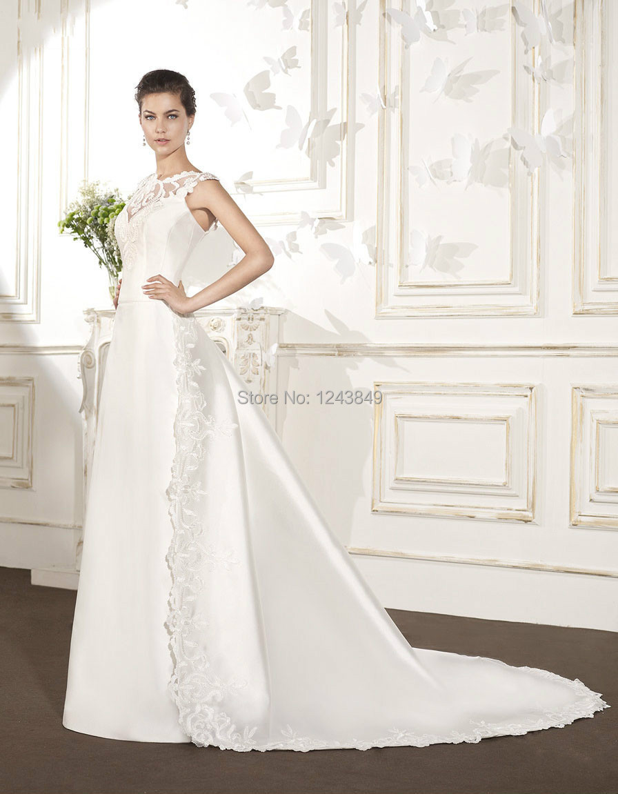 High qualitynew refined pretty v back wedding dress for Wedding dress images free