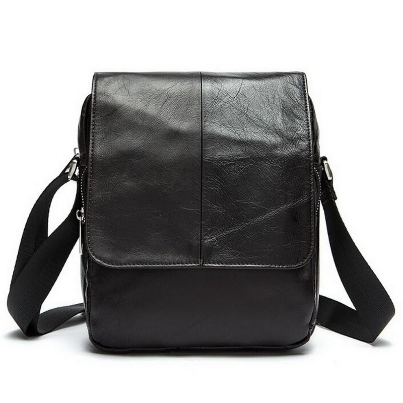 Genuine leather Men Bag Fashion Zipper Men Leather bags crossbody Men's messenger bag for man small sport bags shoulder handbags(China (Mainland))