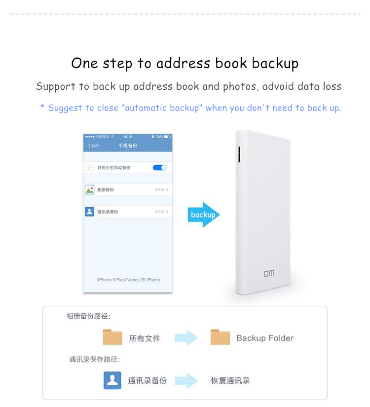 DM WFD021 Wireless USB 3.0 Flash Drive 64G 64GB WIFI Smart Pendrive Memory Usb Stick Power Bank Share Data For iPhone/Android/PC
