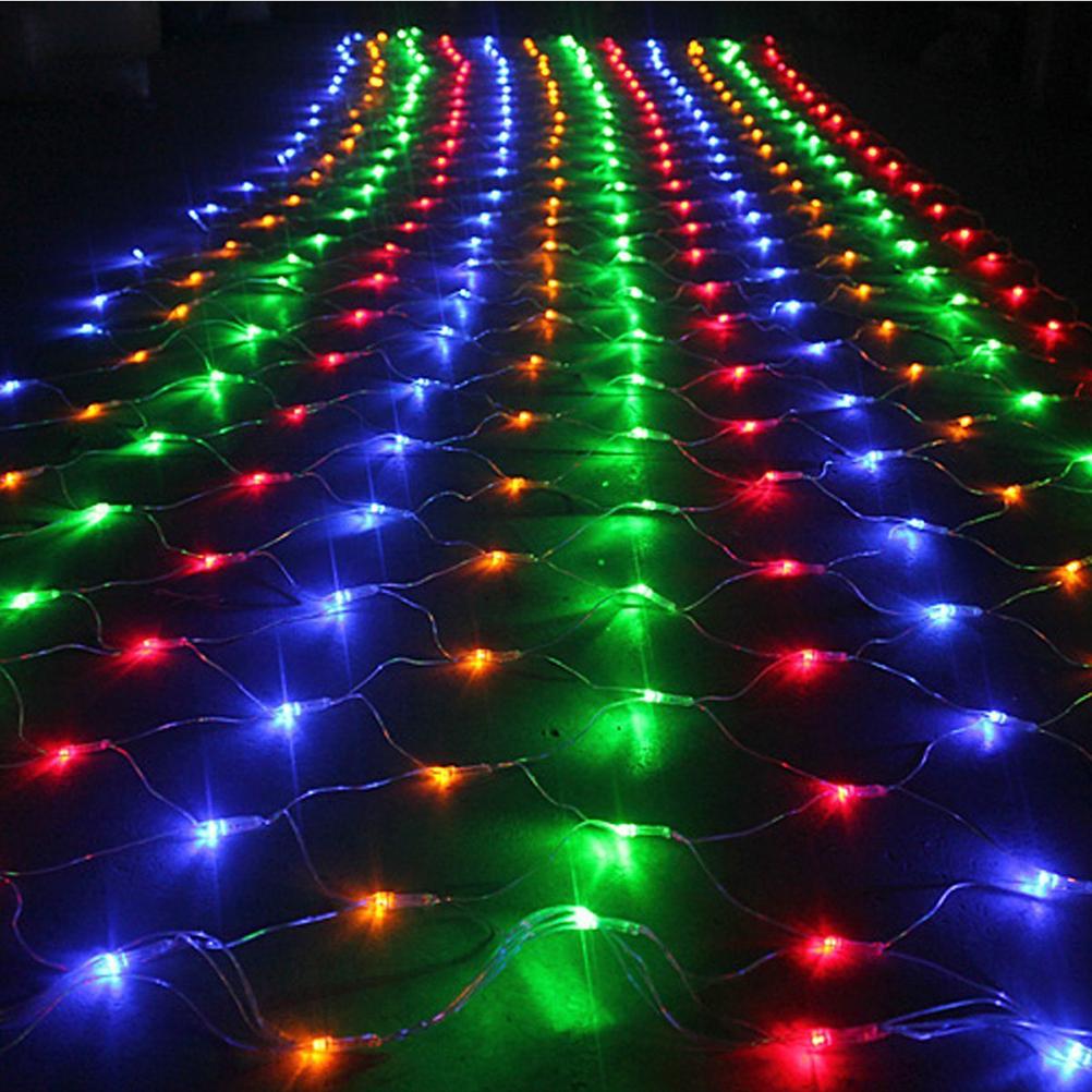 AC 220V 40W 6*4M 672-LED String Lights Net Lights with EU-plug for Garden / Room / Holiday / Christmas Decoration (Colorful)(China (Mainland))