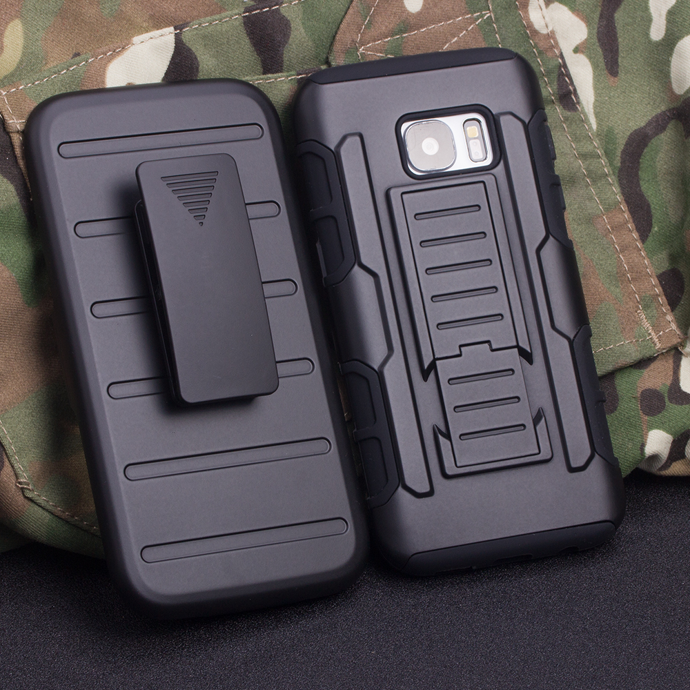 Three Layer Armor Case For Samsung Galaxy A3 A5 A7 J5 J7 J1 Ace J120 A510 I9080 G360 G530 G355H G750A Cover Belt Clip Funda(China (Mainland))