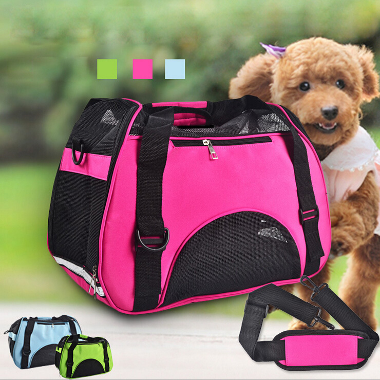 Canvas Portable Dog Bag for Small Dogs Mesh Breathable Pet Carrier Bag Pack Carry for Cats Single Shoulder Bag(China (Mainland))