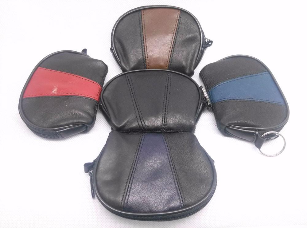 genuine leather wallet coin purse women men patwork fashion (3)