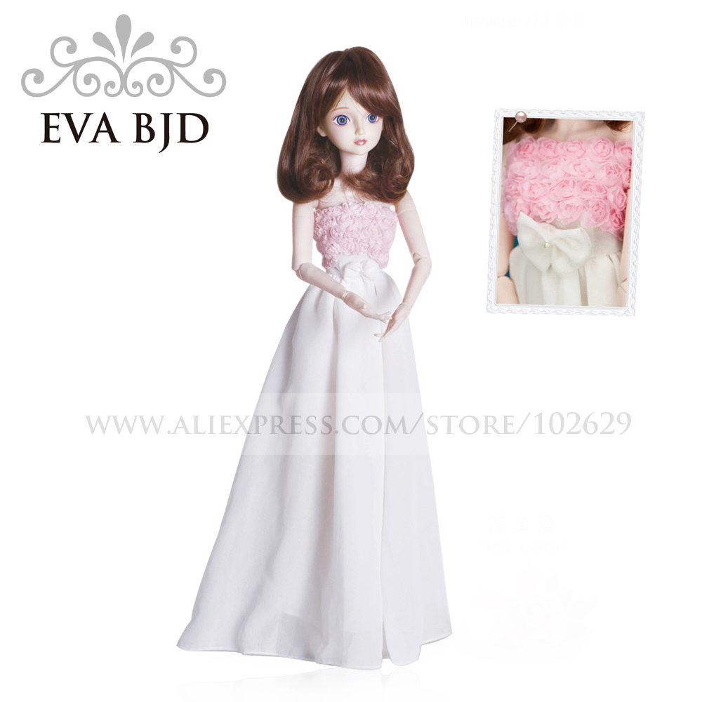 1/3 BJD Doll 60cm 19 jointed dolls Pink Rose Love Girl dolls ( Free Eyes + Hair + Makeup + Clothes + Shoes ) EVA BJD DA001-18(China (Mainland))