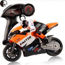 Free shipping new style plastic 4 channel with light and music remote control motorbicycle HT2263(China (Mainland))