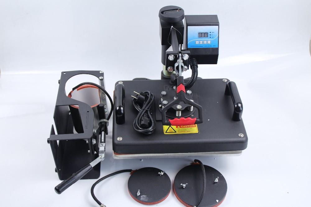 Купить Бесплатная Доставка Combo передачи тепла машина используется для футболки, пресс-печать 4 в 1 DX401