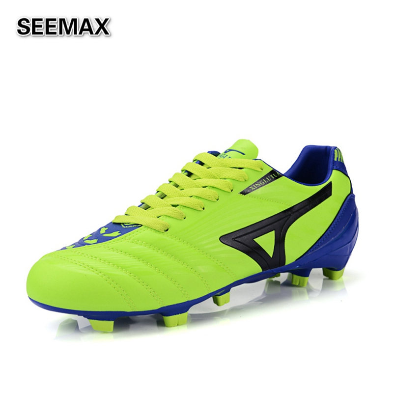 2016 outdoor soccer cleats leather for football boots