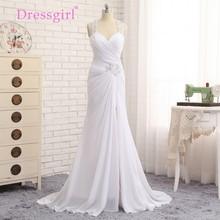 Vestido De Noiva 2017 Beach Wedding Dresses Mermaid Halter Chiffon Applique Lace Vintage Wedding Gown Bridal Dresses Dressgirl(China (Mainland))