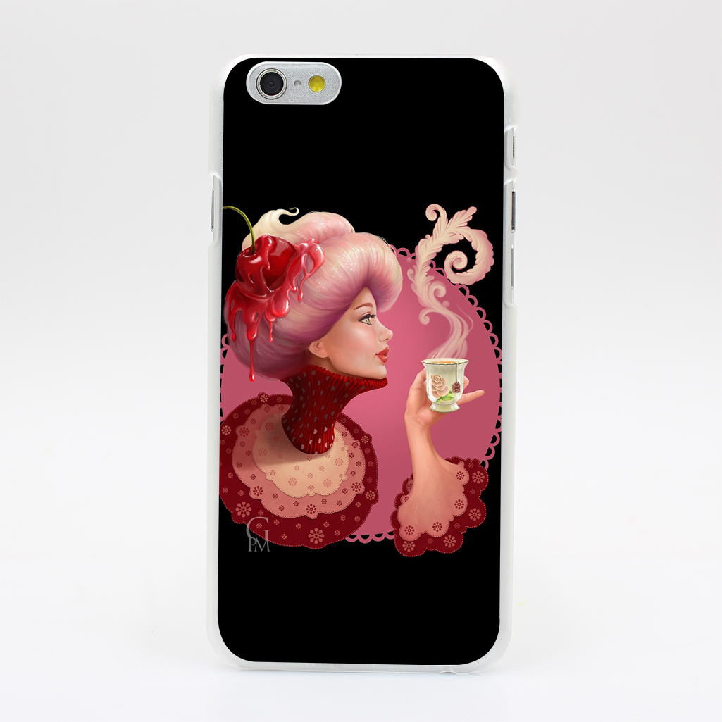 1702T Tea And a Cupcake Hard Case Cover for iPhone 4 4s 5 5s SE 5C 6 6s Plus Skin Back(China (Mainland))