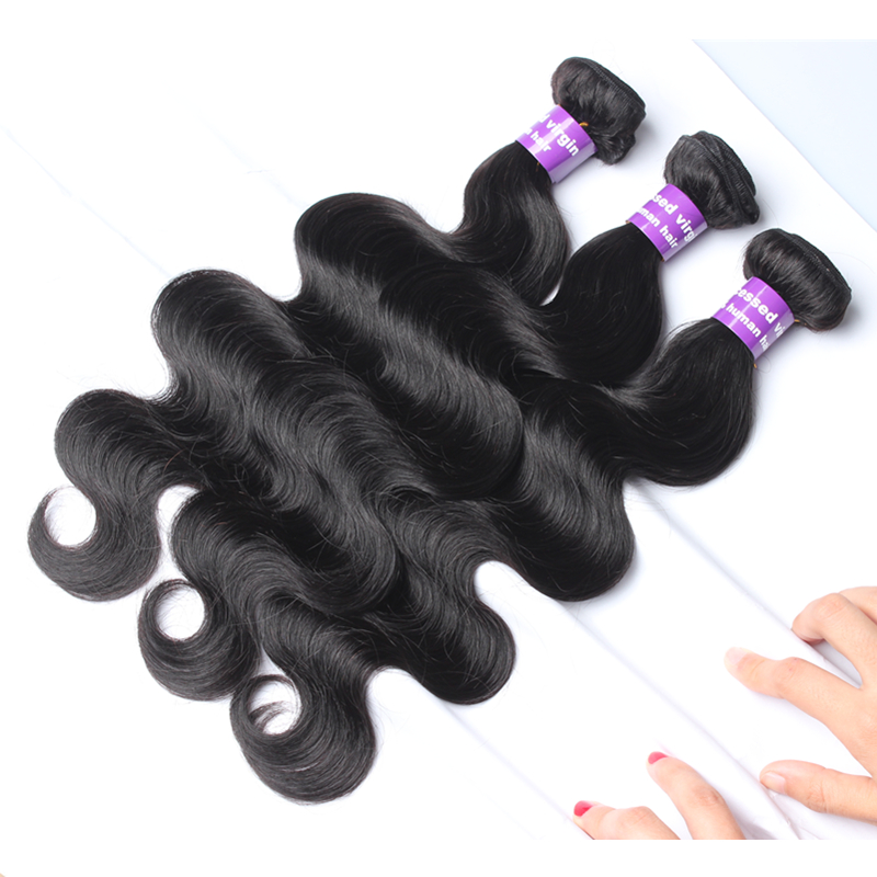 Body wave virgin human hair extensions 3pcs unprocessed Filipino virgin hair natural black human hair weaves free shipping cheap