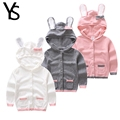 2 7T Spring Autumn Toddler Girls Sweater Hooded Coat Rabbit Hat Pull Fille Sweater Coat Knite