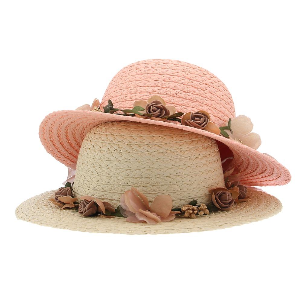 Top Quality Fashion Children Sun Hats Summer Bohemian Straw Hats Beach Headwear For Kids Visor Caps Outdoor Hats For Girls(China (Mainland))