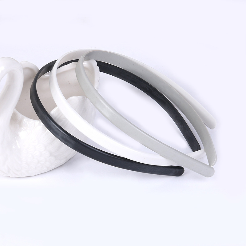 Wholesale 100pcs/lot 1cm Width Solid Color Plastic Resin headband Hairbands Hair Jewelry Accessories(China (Mainland))
