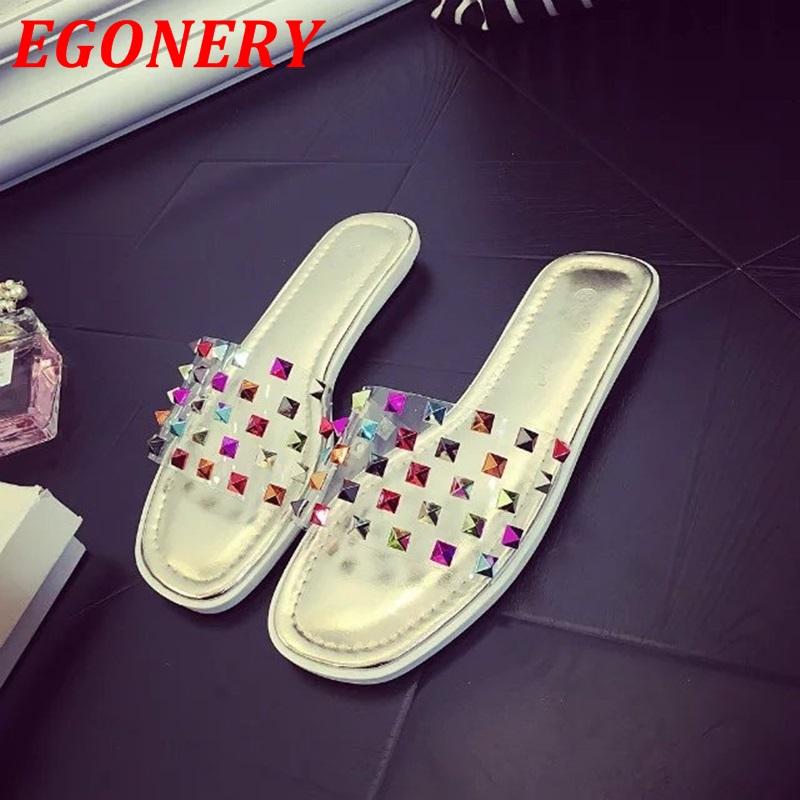 women flats 2016 new summer shoes fashion rivets flat heel peep toe shoes woman beach shoes multi color ladies casual shoes(China (Mainland))